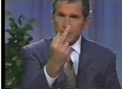 Bush_flipping_finger